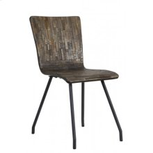 Chair 41x45x88 cm FLORES grey-wood old grey