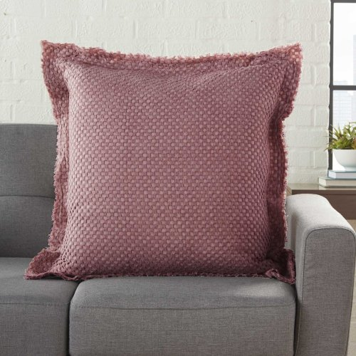 "Life Styles Bx056 Maroon 1'10"" X 1'10"" Throw Pillows"