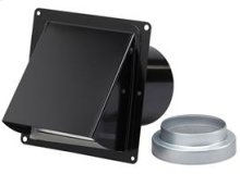 """Black Steel Wall Cap for 3"""" and 4"""" round duct (no bird screen)"""