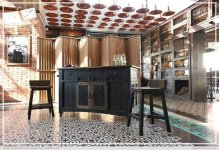 3 Drawer Kitchen Island w/2 sliding doors, 2 Mesh doors on each side - functional casters - Black & Brown Finish