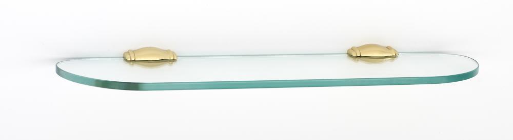 Charlie's Collection Glass Shelf A6750-18 - Polished Brass