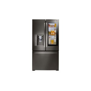 24 cu. ft. Smart wi-fi Enabled InstaView Door-in-Door® Counter-Depth Refrigerator - BLACK STAINLESS STEEL