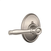 Birmingham Lever with Wakefield trim Non-turning Lock - Satin Nickel