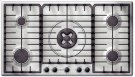 """300 Series 36"""" Stainless Steel Gas Cooktop 5 Burner PGL985UC Product Image"""