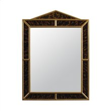 Eglomise Faux Tortoise Mirror with Gold Gilded Accents