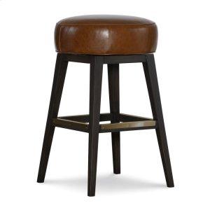 C.R. Laine Leather Swivel Bar Stool