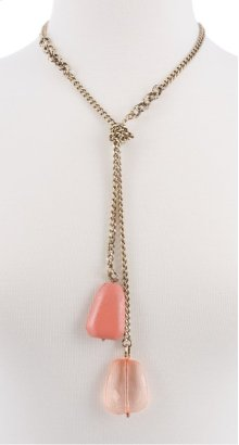 BTQ Drop Stone Necklace - Orange
