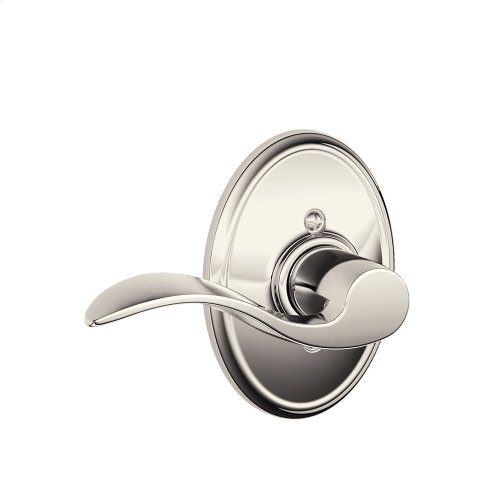Accent Lever with Wakefield trim Non-turning Lock - Polished Nickel