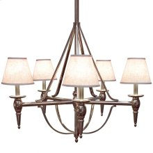 Five-Arm Towne Chandelier - C500 Silicon Bronze Light with Black