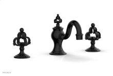 COURONNE Widespread Faucet Cross Handles 163-01 - Gloss Black