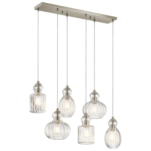 Riviera Collection Riviera 6 Light Linear Chandelier NI