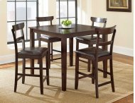 5 PIECE PUB SET (TABLE WITH 4 BARSTOOLS)