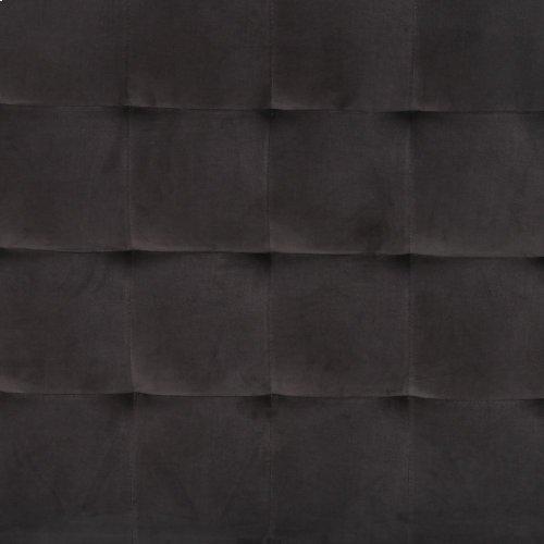 """Queen Size Grey Velvet Cover Rennie Bed - 48.5"""""""