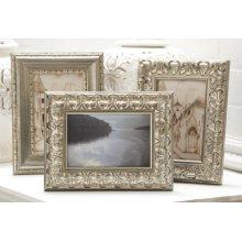 Carved Antique Silver Frame (3 asstd).