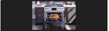 36-inch Dual-Fuel Pro Range with Steam-Assist Oven and Griddle