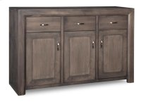 Contempo Sideboard w/3 Wood Doors & 3/Dwrs & 1/Wood Halfshelf Product Image
