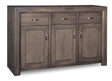 Contempo Sideboard w/3 Wood Doors & 3/Dwrs & 1/Wood Halfshelf