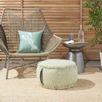 "Outdoor Pillows As220 Green 20"" X 20"" X 12"" Poufs Product Image"