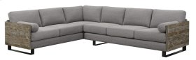 2pc Sect-lsf Sofa-rsf Sofa W/2 Bolster Pillows-light Gray#k2080-1/sandstone Finish