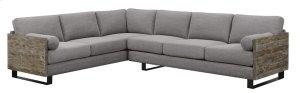 2pc Sect-lsf Sofa-rsf Sofa W/2 Bolster Pillows-light Gray#k2080-1/sandstone Finish