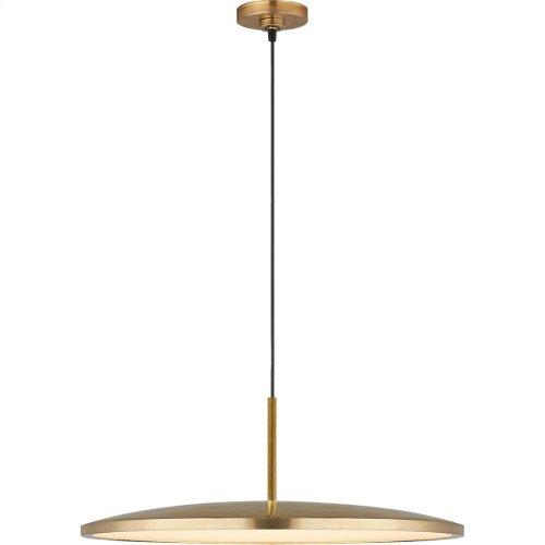 Visual Comfort PB5001NB Peter Bristol Dot LED 17 inch Natural Brass Pendant Ceiling Light