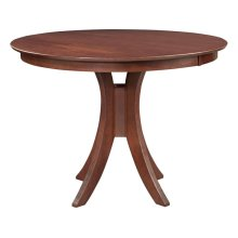 36'' H Siena Pedestal Table in Espresso