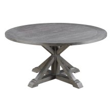 Emerald Home Paladin Round Dining Table Rustic Charcoal Gray D350-12-03
