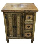 "30"" Copper Vanity W/Drawers Product Image"