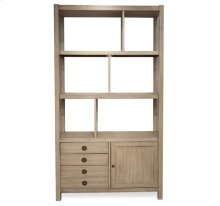 Perspectives Bookcase Etagere Sun-drenched Acacia finish