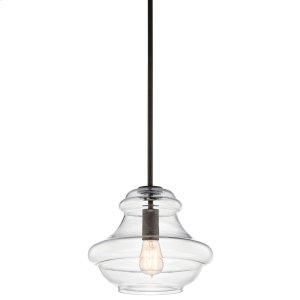 "Everly 10.25"" 1 Light Schoolhouse Pendant Clear Glass Olde Bronze®"
