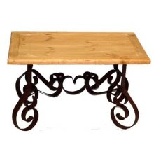 Bent Iron End Table