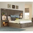 Precision - Full/queen Tall Headboard - Gray Wash Finish Product Image