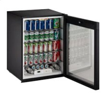 "Black Glass door, field reversible ADA Series /24"" ADA Height Compliant Glass Door Refrigerator / Single Zone Convection Cooling System"