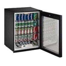 "Black Glass door, field reversible ADA Series /24"" ADA Height Compliant Glass Door Refrigerator / Single Zone Convection Cooling System"