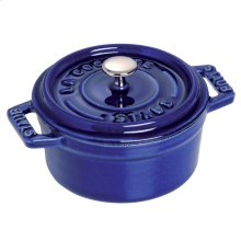 Staub Cast Iron 0.25-qt Mini Round Cocotte, Dark Blue