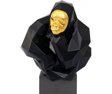 Black and Gold Pondering Ape Large Sculpture Product Image