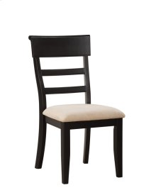 Side Chair Ladderback Rta Black W/uph Seat