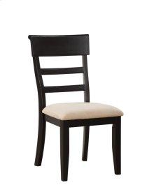 Side Chair Ladderback Rta Black W/uph Seat