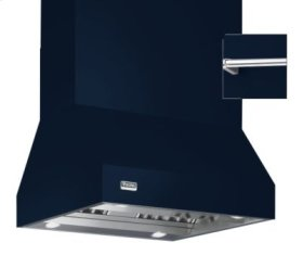 """36"""" Wide Island Hood, Chrome Accessory Rail on front, back and both sides"""