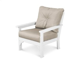 White & Cast Ash Vineyard Deep Seating Chair