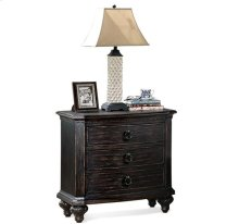 Bellagio Two Drawer Nightstand Weathered Worn Black finish