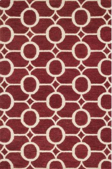Red / Ivory Rug