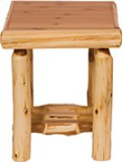 Open End Table Natural Cedar Product Image