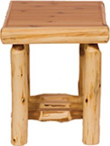 Open End Table Natural Cedar