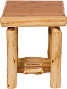 Open End Table Natural Cedar