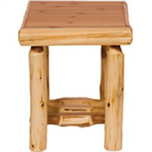 Open End Table - Natural Cedar
