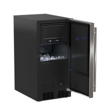 "15"" ADA Height Clear Ice Machine with Arctic Illuminice™ - Factory Installed Pump - Solid Stainless Steel Door, Left Hinge"