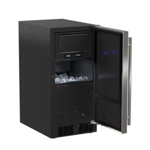 "Marvel15"" ADA Height Clear Ice Machine with Arctic Illuminice™ - Gravity Drain - Solid Stainless Steel Door, Left Hinge"