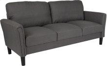 Bari Upholstered Living Room Sofa in Dark Gray Fabric