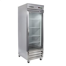 GLASS DOOR REACH-IN REFRIGERATION (3 SHELVES)